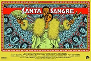 Movie Digital Art Metal Prints - Santa Sangre Poster Metal Print by Sanely Great