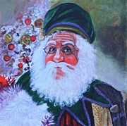 Kriss Kringle Posters - Santa Poster by Shirl Theis