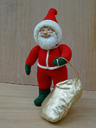 Mixed Media Sculptures - Santa Sr. - Christmas Spirit by David Wiles