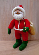 Character Sculpture Posters - Santa Sr. - Merry Christmas Poster by David Wiles