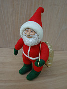 Painted Sculpture Sculptures - Santa Sr. - Ready To Go by David Wiles
