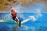 Jeanette Brown - Santa Waterskiing