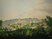 Villa Paintings - SantAmbrogio by Jeff Lucas