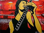 Carlos Santana Paintings - Santana by Jose A Gonzalez