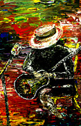 Pallet Knife Prints - Santana Print by Mark Moore