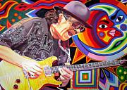 Santana Mystic Vision Print by Joshua Morton