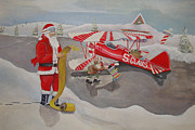North Pole Originals - Santas Airport by Rick Huotari
