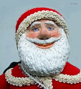 Cartoon Sculptures - Santas Big Day by David Wiles