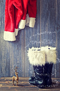 Santa's Boots Print by Christopher and Amanda Elwell