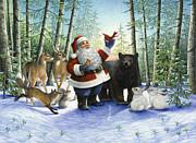 Santa's Christmas Morning Print by Lynn Bywaters