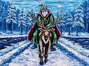 Christmas Season Images Posters - Santas Excursion  Poster by Kevin Richard