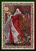 Mccombie Mixed Media - Santas Labor of Love by J McCombie