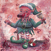 Santa Claus Originals - Santas Littlest Elf Hog by Nadine Rippelmeyer