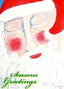 Christmas Greeting Originals - Santas Prayer by Allison  Fauchier