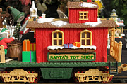 Toy Shop Posters - Santas Toy Shop Poster by Jim Nelson