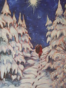 Paris Wyatt Llanso Prints - Santas Trek Print by Paris Wyatt Llanso