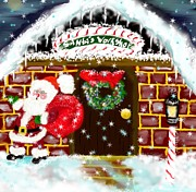 Candy Digital Art - Santas Workshop by Lori  Lovetere