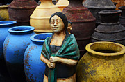 Garden Ornaments Prints - Sante Fe Color 3 Print by Bob Christopher