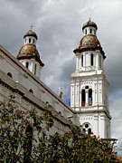 Rooftop Photos - Santo Domingo Spires by Al Bourassa