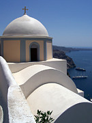 Thira Framed Prints - Santorini Church 40 Framed Print by Antony McAulay