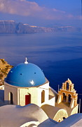 Santorini Church Print by David Davies