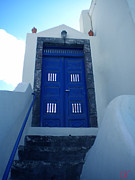 Colette Photos - Santorini Door  to Heaven  by Colette V Hera  Guggenheim