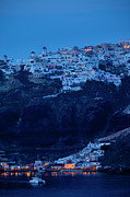 Moonlit Night Photos - Santorini Greece by Brian Jannsen