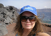 Selfportrait Photos - Santorini Joy  by Colette V Hera  Guggenheim
