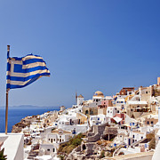 Thira Framed Prints - Santorini Oia Framed Print by Antony McAulay