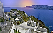 Thira Framed Prints - Santorini Overview Framed Print by Madeline Ellis