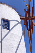 Old Beauty Framed Prints - Santorini Windmill 02 Framed Print by Antony McAulay
