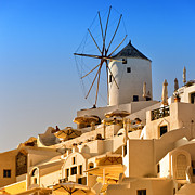 Old Beauty Framed Prints - Santorini Windmill 05 Framed Print by Antony McAulay