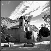 Emotionally Prints - Santuario De Chimayo Black and White Canvas By JFantasma Photography Print by JFantasma Photography