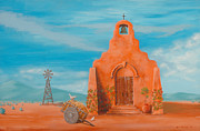Bell Tower Paintings - Santuario by Jerry McElroy