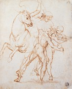 Accademia Prints - Sanzio Raffaello, A Warrior Riding Print by Everett