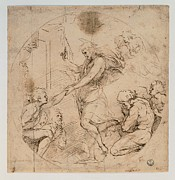 Drapery Prints - Sanzio Raffaello, Christ In The Limbo Print by Everett