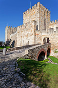 Battlement Framed Prints - Sao Jorge Castle in Lisbon Framed Print by Lusoimages  