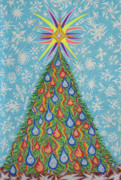 Fantasy Tree Pastels - Sapin Noel by Robert  SORENSEN