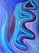 Sapphire Passion - Luminescent Light Print by Daina White