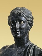 Statue Portrait Photo Prints - Sappho 612-545 Bc. Greek Art. Sculpture Print by Everett