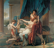 Sappho Prints - Sappho and Phaon Print by Jacques-Louis David