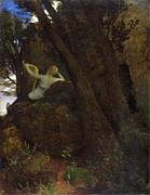 Arnold Boecklin - Sappho by Arnold Boecklin