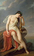 Famous Artists - Sappho on the Leucadian Cliff by Pierre-Narcisse Guerin