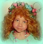 Doll Photo Originals - Sara the butterfly fairy doll by Anne-Marie Brombal