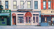 Fire Escape Metal Prints - Sarabeths Metal Print by Anthony Butera