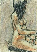 Seated Nude Drawing Prints - Sarah 3 Print by Irving Hopper