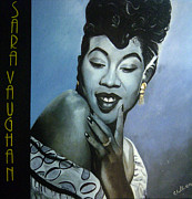 Black History Paintings - Sarah Vaughan by Chelle Brantley