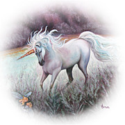 Unicorn Posters - Sarahs Dream - Cameo Poster by Jean R Brown - Terri Brown Guerra