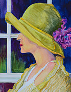Shawl Paintings - Sarahs Hat by Rose Townsend
