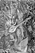 Wood Carving Framed Prints - Saraswati - Supreme Goddess Framed Print by Karon Melillo DeVega